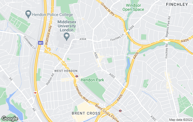 Map for Winkworth, Hendon