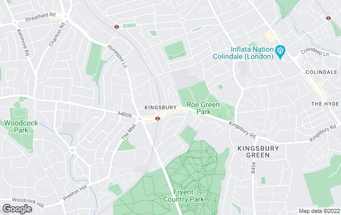 Map for Andrews Estate Agents, Kingsbury