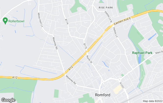 Map for Homesearch Properties, Romford