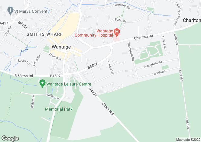 Map for Chandlers Close, Wantage