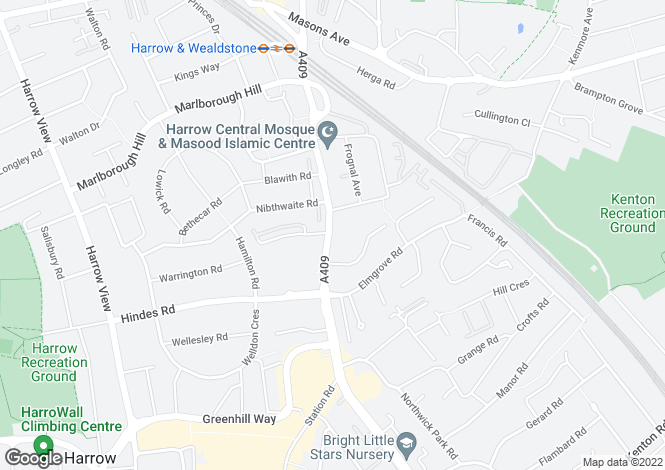 Map for Station Road, Harrow