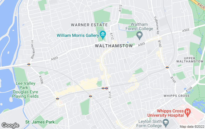 Map for Lansdowne, Walthamstow