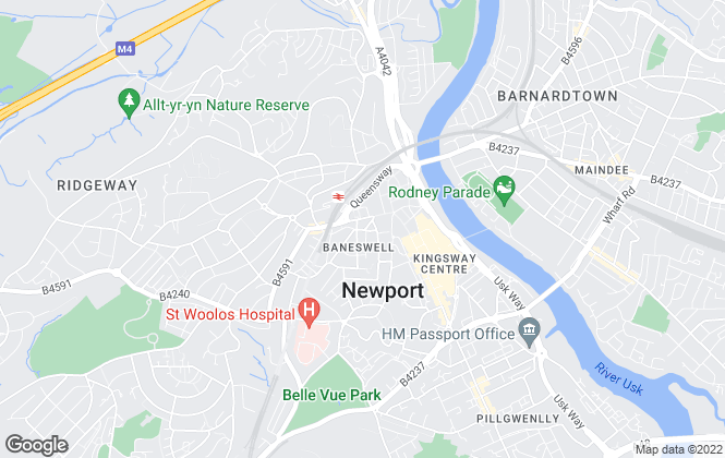 Map for Nuttall Parker, Newport