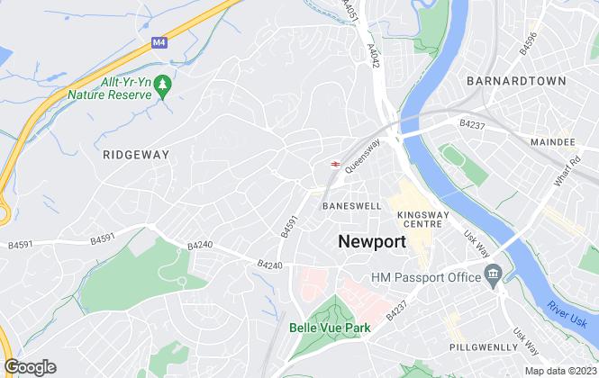 Map for Pinkmove, Newport