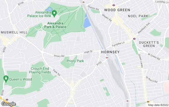 Map for Philip Alexander, Hornsey & Crouch End