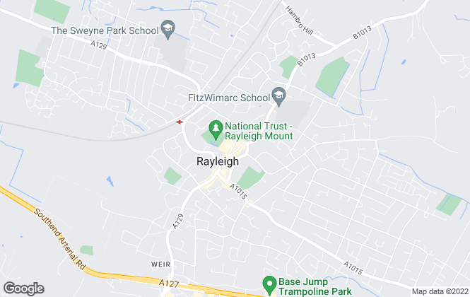 Map for George Homes, Rayleigh