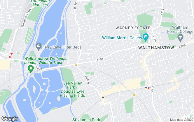 Map for Forest Lettings & Estates, Walthamstow