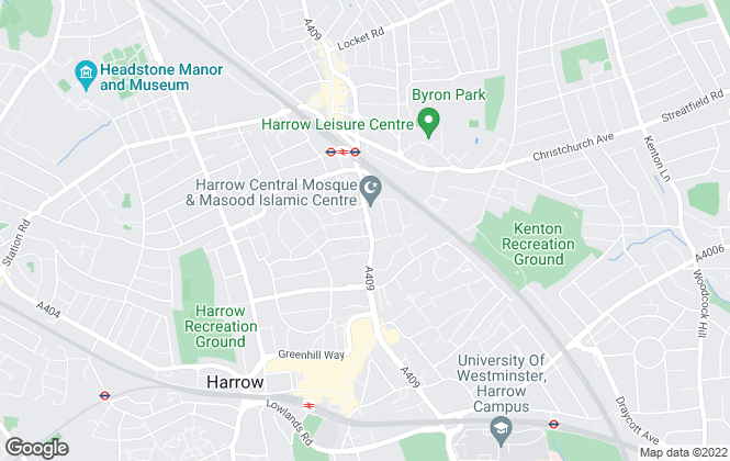 Map for Maple Estate & Letting Agents, Harrow