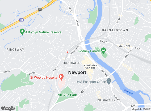 Map for Newland Rennie, Newport