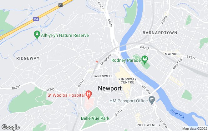 Map for Martin & Co, Newport - Lettings & Sales