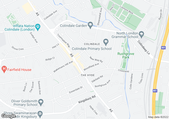 Map for Colin Close, Colindale, London, NW9