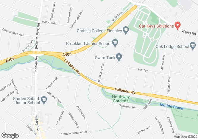 Map for Brookland Rise Hampstead Garden Suburb