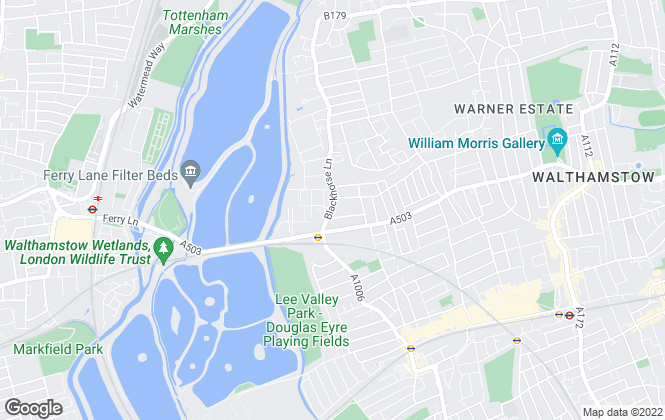 Map for Century 21, Walthamstow
