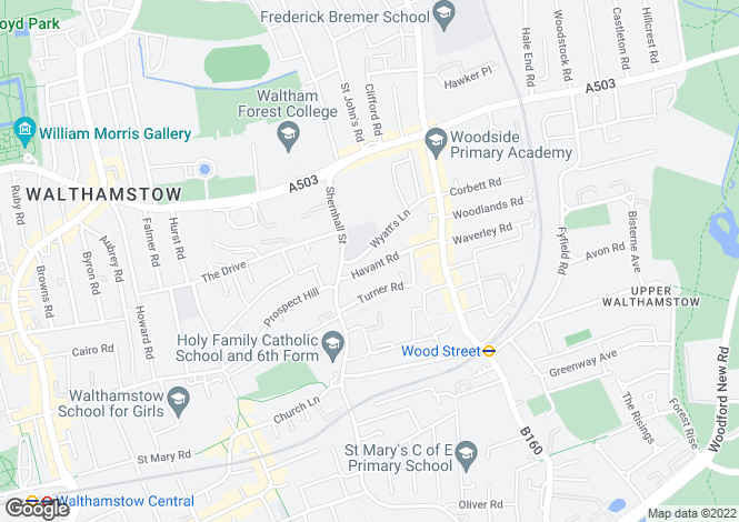 Map for HAVANT ROAD  Walthamstow