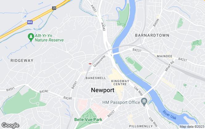 Map for Davis & Sons, Newport