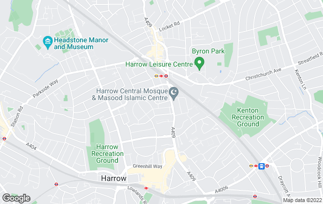 Map for Home, Retirement Sales Eastcote