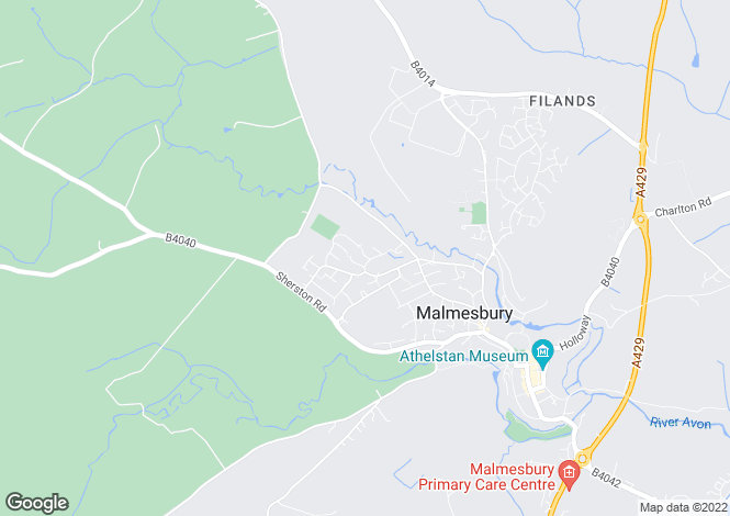 Map for White Lion Park, Malmesbury, Wiltshire