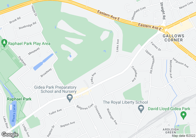 Map for Links Avenue - Gidea Park - RM2