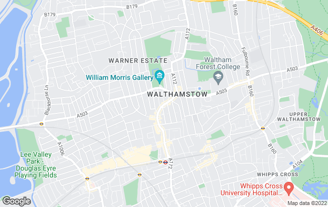 Map for Village Estates, Walthamstow