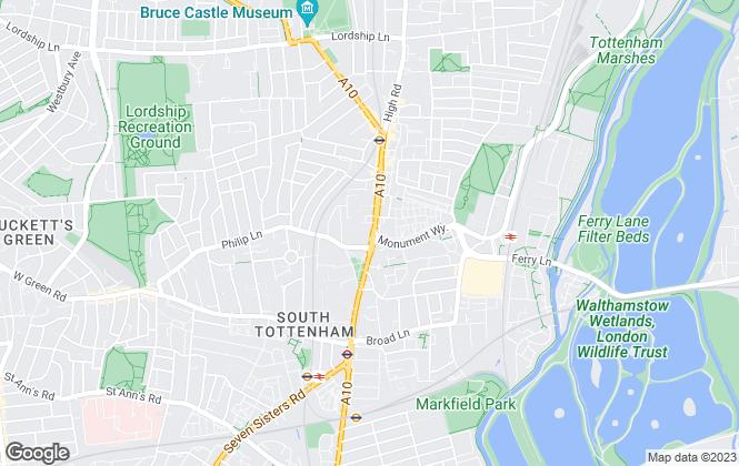 Map for Thomas & Co , Tottenham