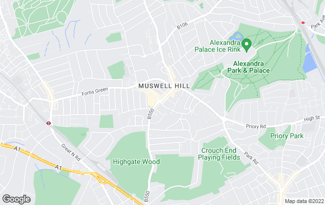 Map for Bairstow Eves Lettings, Muswell Hill
