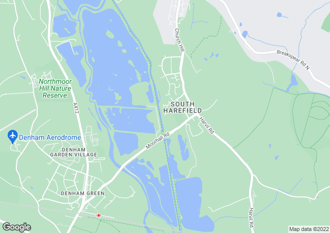 Map for Peerless Drive, Harefield, Middlesex, UB9