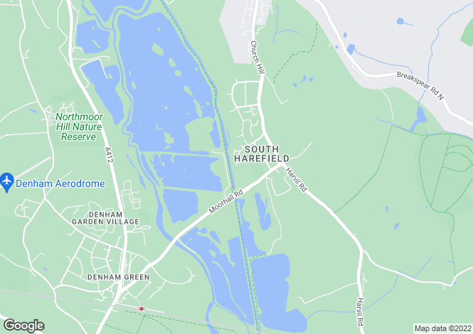 Map for Peerless Drive, Harefield
