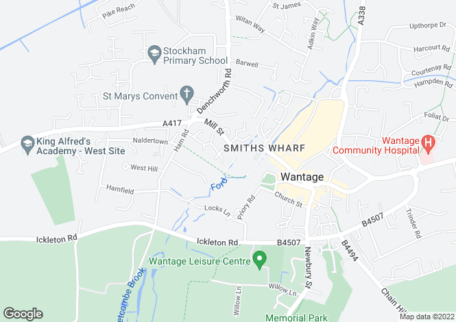 Map for Mill Street, Wantage