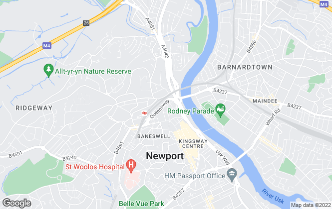Map for Pobl Letting Agency, Newport