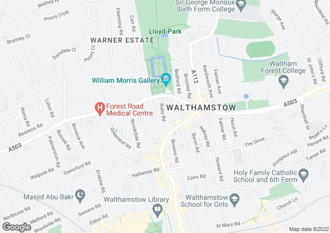 Map for Ruby Road,