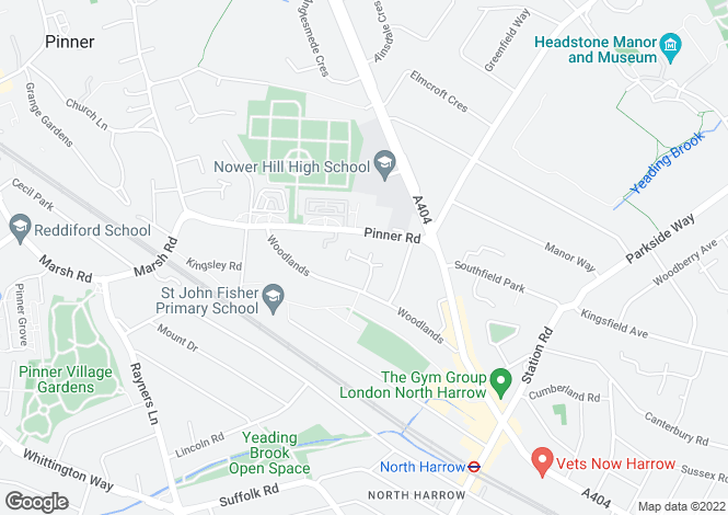 Map for Thrush Green, Harrow