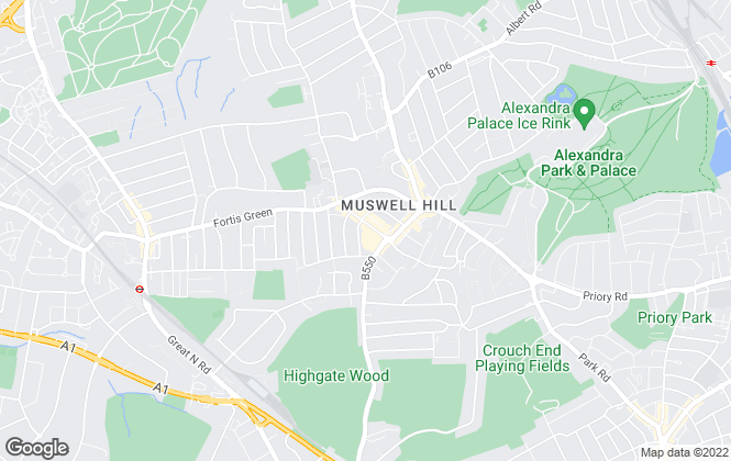 Map for Prickett & Ellis, Muswell Hill