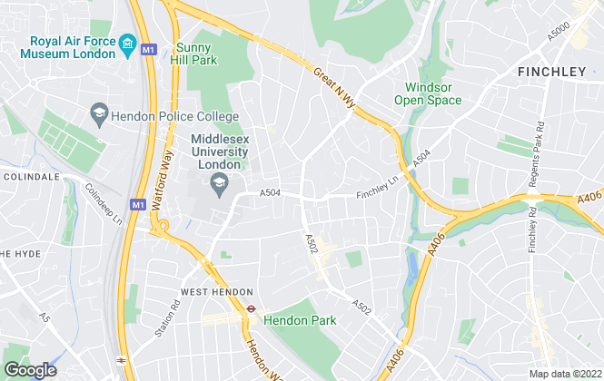 Map for Jayson Russell, Hendon