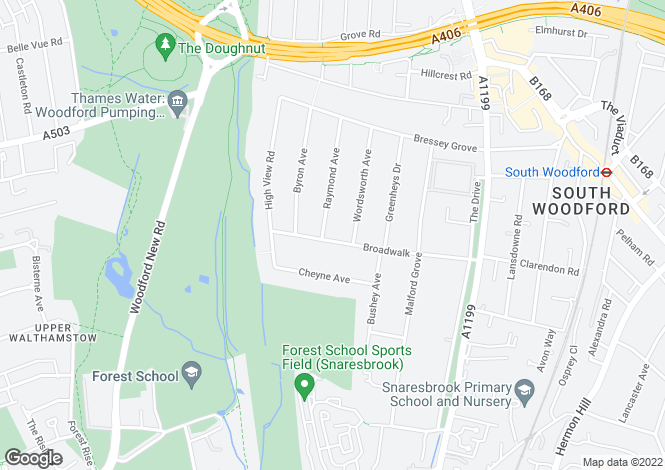 Map for South Woodford