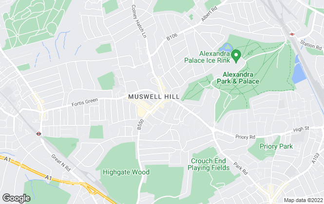 Map for Kinleigh Folkard & Hayward - Sales, Muswell Hill