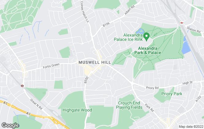 Map for Hamptons International Lettings, Muswell Hill