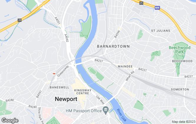 Map for Leonard D Morgan Estate Agents, Newport