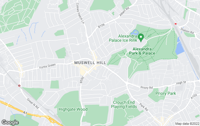 Map for Martyn Gerrard, Muswell Hill
