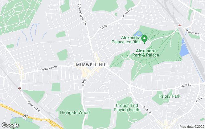 Map for Tatlers, Muswell Hill Office