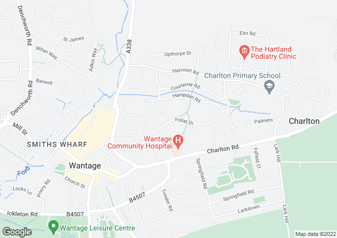 Map for Foliat Drive, Wantage