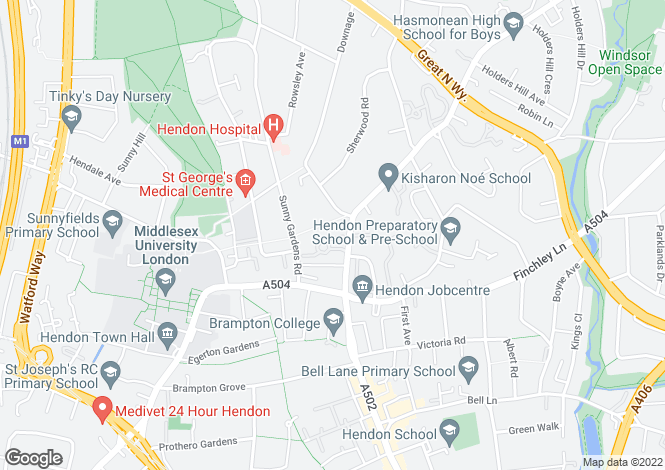 Map for Thurlby Croft, Mulberry Close, Hendon, NW4