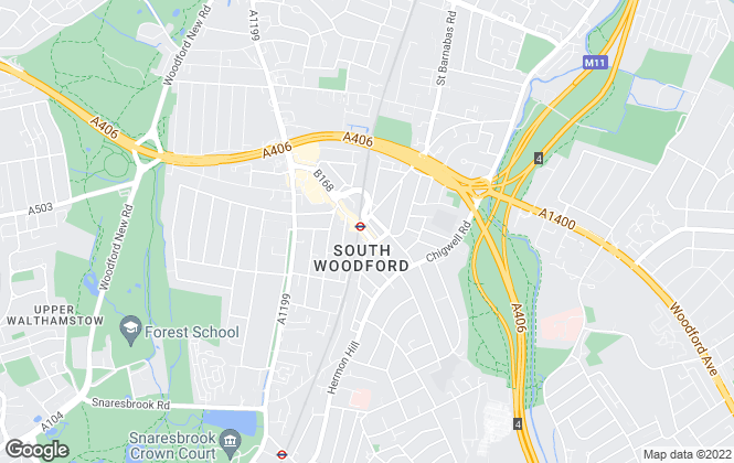 Map for Winkworth, South Woodford