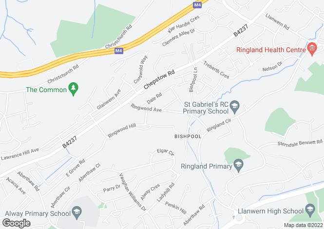 Map for Ringwood Avenue, NEWPORT