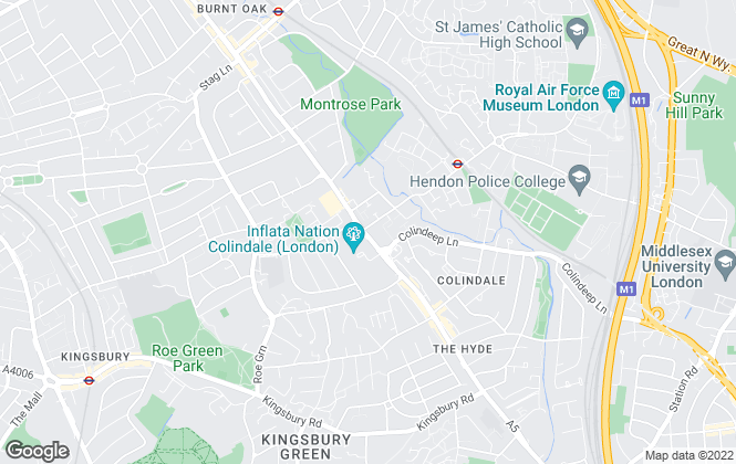 Map for mile... , Colindale