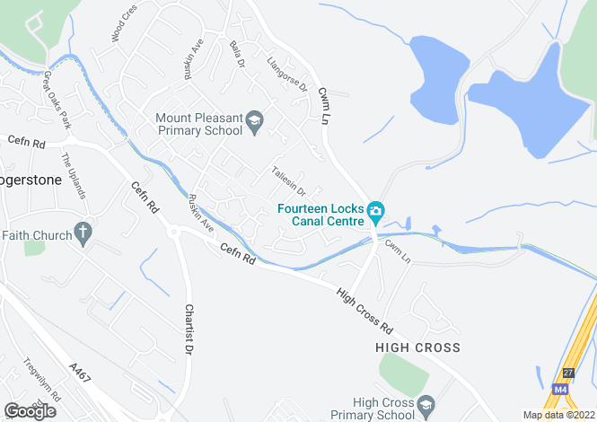 Map for Hawks Moor Close,