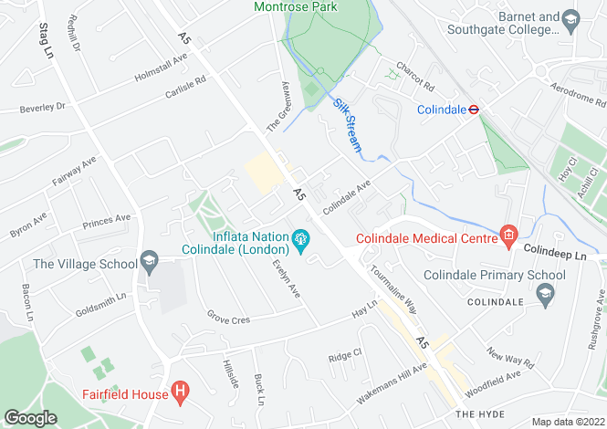 Map for Edgware Road, COLINDALE