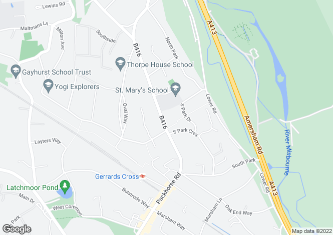 Map for The Lodge, 86 Packhorse Road, Gerrards Cross, Buckinghamshire