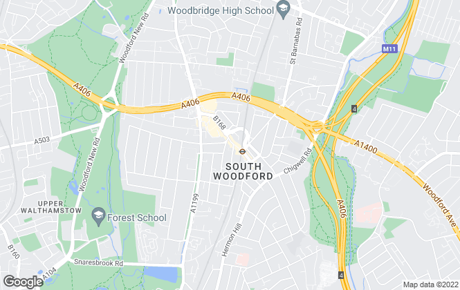 Map for Peter Andrews, South Woodford