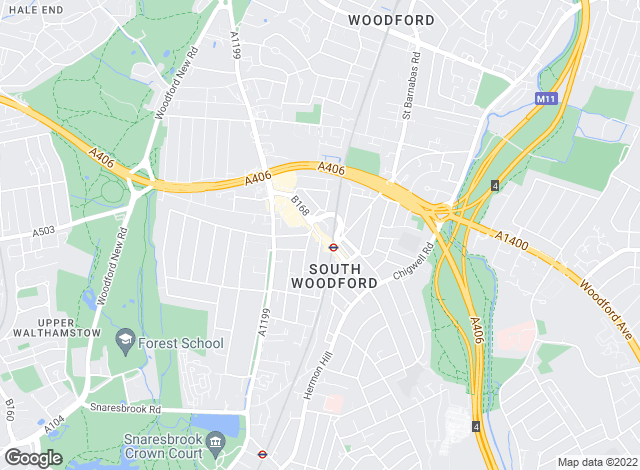 Map for DABORACONWAY, South Woodford - Lettings