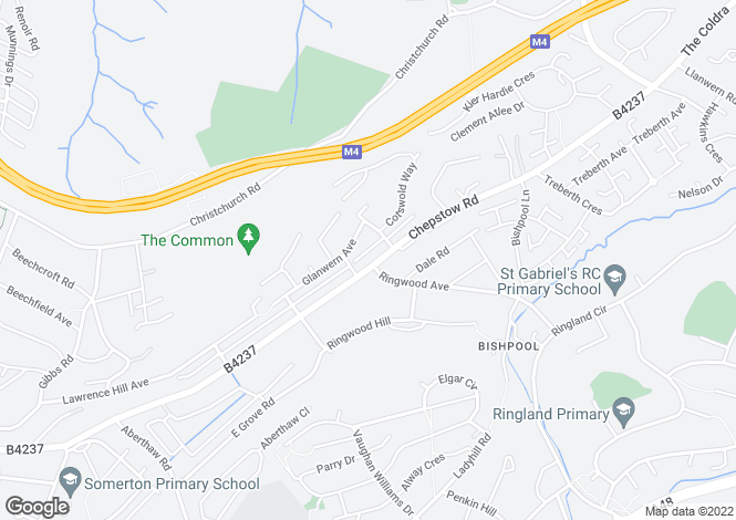 Map for Chepstow Road,